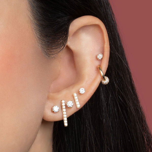MINI DIAMOND LINE EARRING