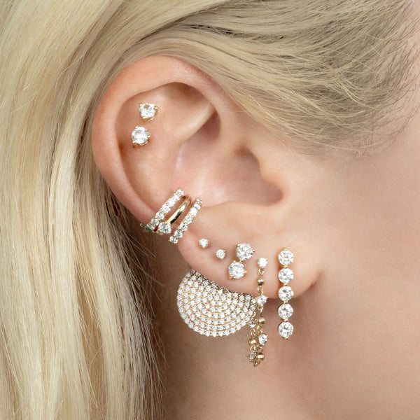 DIAMOND PAVE DISC EARRING JACKET