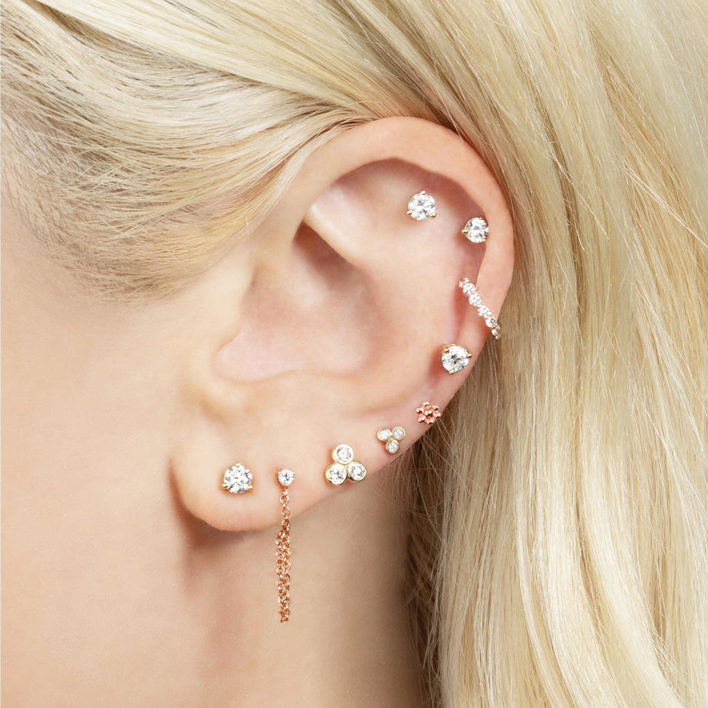 DIAMOND CHAIN EARRING