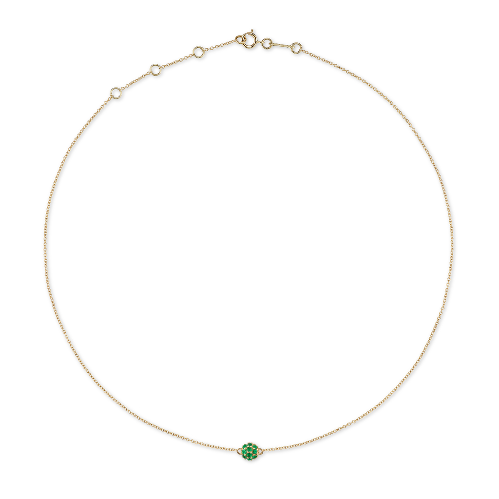 TSAVORITE PAVÉ SPHERE COLLAR NECKLACE
