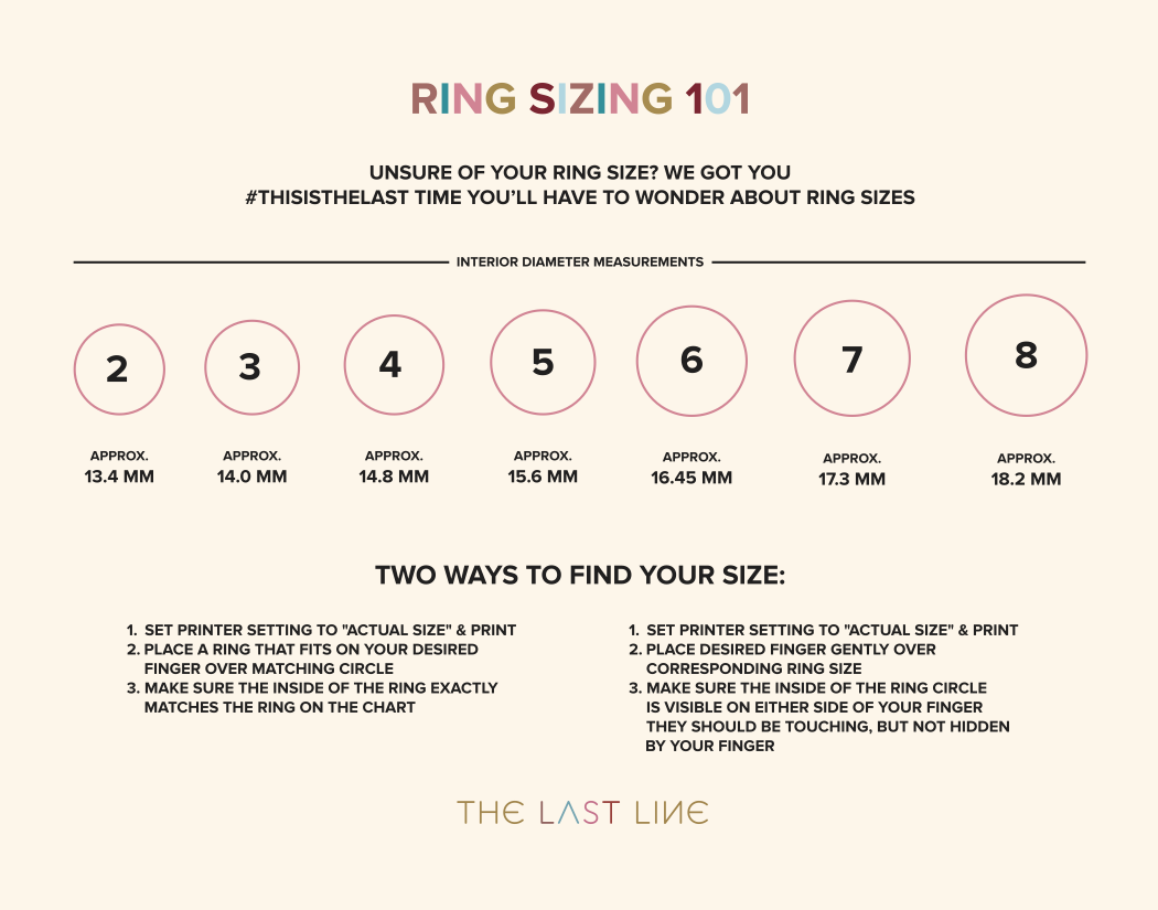 Ring Size Chart