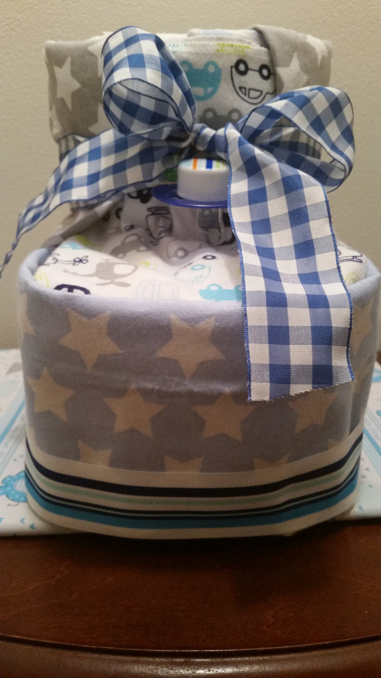 Diaper Cake - Baby Booties (Boy)