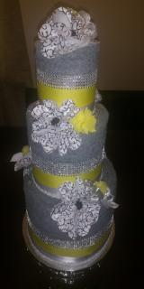 Towel Cake - Bridal Shower/Wedding