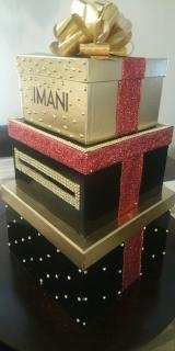 Money Cardbox Centerpiece - Gold Bling