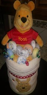 Diaper Cake - Winnie-the-Pooh in Honey Pot