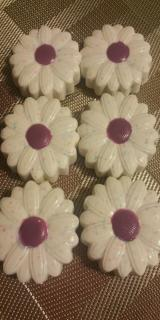 Chocolate Covered/Dipped Oreos - Daisy Sunflower Shape in White and Lavender mix