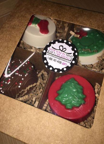 Chocolate Covered/Dipped Oreos - 4 pc Box