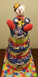 Diaper Cake - Clown/Circus