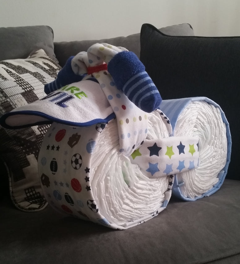 Diaper Cake Boy Bike/Motorcycle