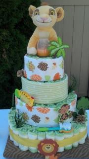 Diaper Cake Lion King Theme