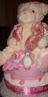 Diaper Cake - Pink Teddy (Girl)