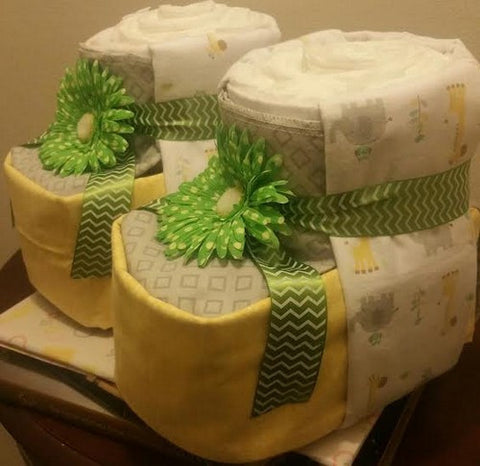 Diaper Cake - Baby Booties (Neutral)