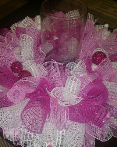 Deco Mesh Wreath Centerpiece