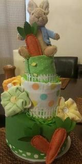 Diaper Cake - Peter-the-Rabbit Topsy Turvy