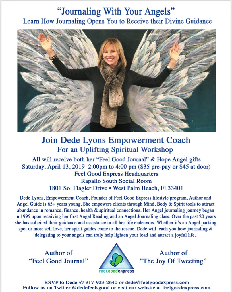 """Journaling With Your Angels""  April 13, 2019,  2pm -4pm"