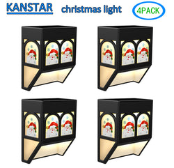 Solar Powered Christmas Santa color changing night Light Outdoor Landscape Garden Yard(4 pack)