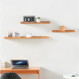 Kanstar Wall-Mounted Floating Ledge Hanging Shelf, 3 Piece Wood Storage Shelves Organizer Rack