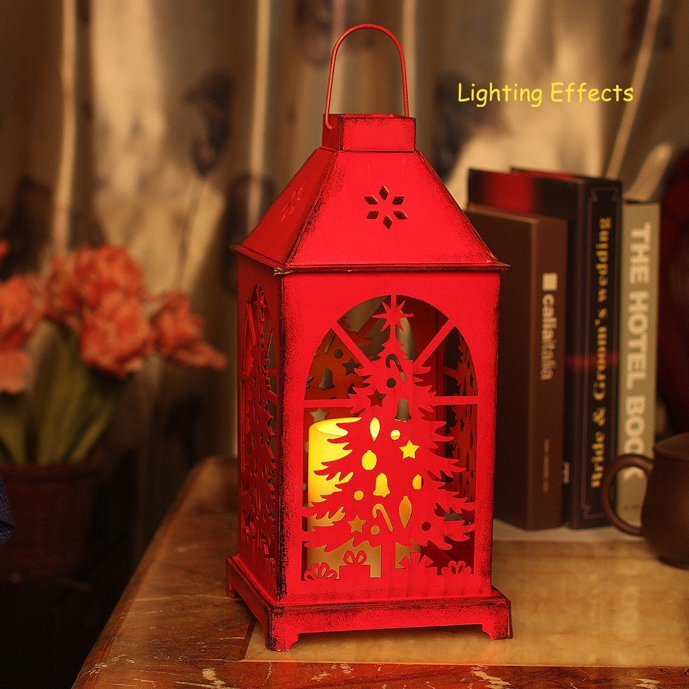 Christmas Lantern, LED candles with Timer,Battery Operated ...