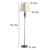 "Tone Golden 57"" High Traditional Floor Lamps"