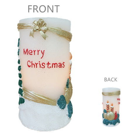 Christmas Tree Flameless LED Candle Lights with Timer, 3X6 inches for Christmas Home Party Decor