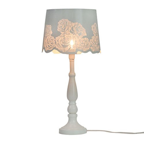 "21"" Bed Side Table Lamp Desk Lamp With Rose Lamp Shade"