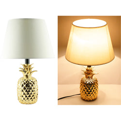 Shiny Pineapple Ceramic Table Lamp