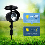 Solar Spot Light, Outdoor Solar Light, 12LED, Wireless, Waterproof Security Light, Auto On/Off for Backyard, Garden, Yard, Driveway, Pathway and Entryway, Outdoor, Solar (2 Pack)