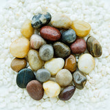 Polished Cobblestone Pebble Tile for Walls, Floors, Garden, Yards (1 box with 6x 10''x10'' hexagon pieces)
