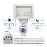 Kanstar White 108-LED Solar Motion Sensor Light Outdoor Garden Solar Powered Security Flood Lights Spot Light