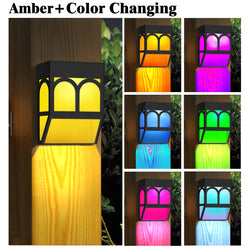 Solar Powered color changing night Light Outdoor Landscape Garden Yard