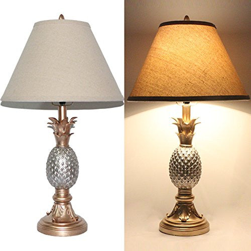 Tone Silver And Gold Pineapple Table Lamp Kanstar