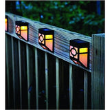 SOLAR POWERED OUTDOOR LANDSCAPE LIGHT FOR WALL GARDEN YARD FENCE(yellow)