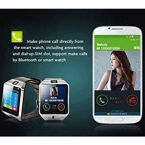 9033d2c7cc7c ... Bluetooth Smart Watch DZ09 Smartwatch GSM SIM Card With Camera For  Android IOS Black