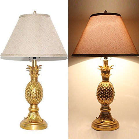 "Tone Golden 26"" High Pineapple Table Lamp"