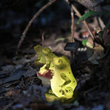 A Set of 3 Solar Frog Lights, Solar Garden Lights Outdoor, Frogs Solar Powered LED Lights for Lawn Decorations and Gift