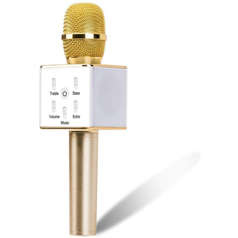 Portable Wireless Karaoke Microphone with Built-in Bluetooth Speaker