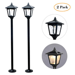 "42"" Mini Street Vintage Outdoor Garden Solar Lamp Post Light Lawn - Adjustable"