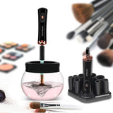 Makeup Brush Cleaner & Dryer Kit Upgraded,The Best Portable Electronic Automatic Makeup Brush Cleaner, Cleans and Dries Makeup Brushes in Seconds(Gold Black)
