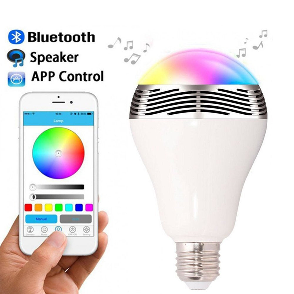 Led Bluetooth Smart Light Bulb Speaker Color Changing For Apple Wiring A Iphone Ipad And Android Phones