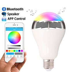 LED Bluetooth Smart Light Bulb Speaker Color Changing for Apple iPhone, iPad and Android Phones