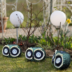 "10"" Solar Powered Garden Solar Owl Decor Lights Outdoor Color Changing (Owl)"