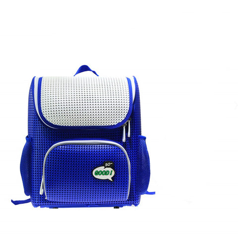 Kids' Backpack Children's School Bags for Elementary Lightweight Satchel Royal Blue for Boys Girls with Add-on Patch