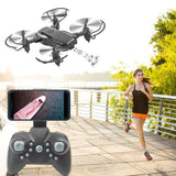 Mini D2 Foldable 2.4G 6-Axis RC Quadcopter Drone, FPV WiFi 480P 0.3MP HD Camera Helicopter, Headless Mode & Attitude Hold & 360° Flip