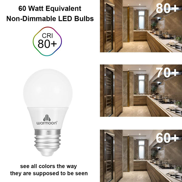 LED Light Bulbs, 7W DSW 3-in-1 White Non Dimmable LED Bulbs 60W Equivalent E26 Base Energy Saving Light Bulbs for Kitchens Living Rooms Dining Rooms Office Study