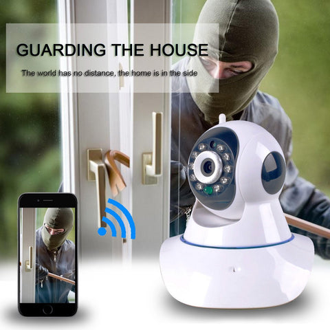 Wireless Security 720P HD Night Vision WiFi Wireless Network Video Monitoring Camera Home