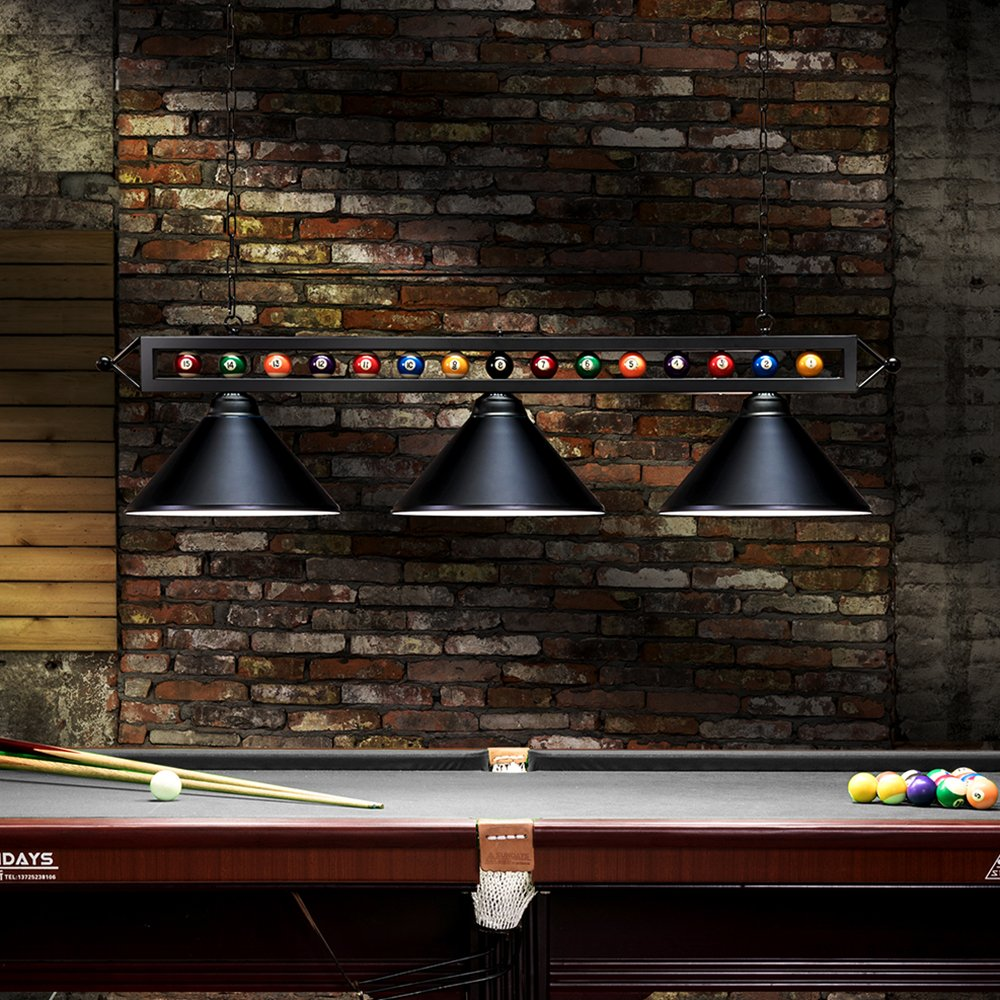 Merveilleux ... 59u0027u0027 Hanging Pool Table Light Fixture For Game Room Beer Party, Ball  Design