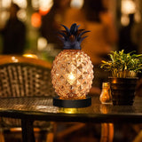 Mercury Glass Pineapple Lamp, Golden Glass Table Lamp for Bedroom, Dresser, Living Room, Kids Room, Coffee Table, Office, Bookstore, Festival Decor and Gift (Gold)