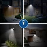 LED Solar Light, Outdoor Motion Sensor Light, Wireless, Waterproof Security Light, Wall Lights, Solar Lights for Backyard, Garden, Patio, Yard, Garage, Porch, Pathway and Entryway(2 Pack)