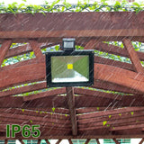 LED Motion Sensor Flood Light Outdoor IP65 Waterproof 6500K Security Wall Lighting with Sensitive Detector