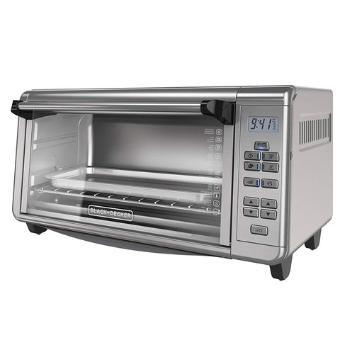 BLACK & DECKER TO3290XSD TO3290XSBD Toaster Oven, 8-Slice, Stainless Steel